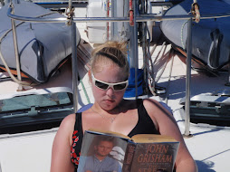 Ky relaxing while sailing