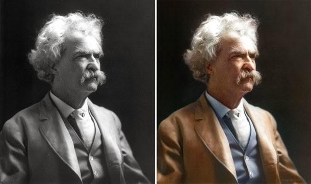 Mark Twain - manipulação digital - Sanna Dullaway