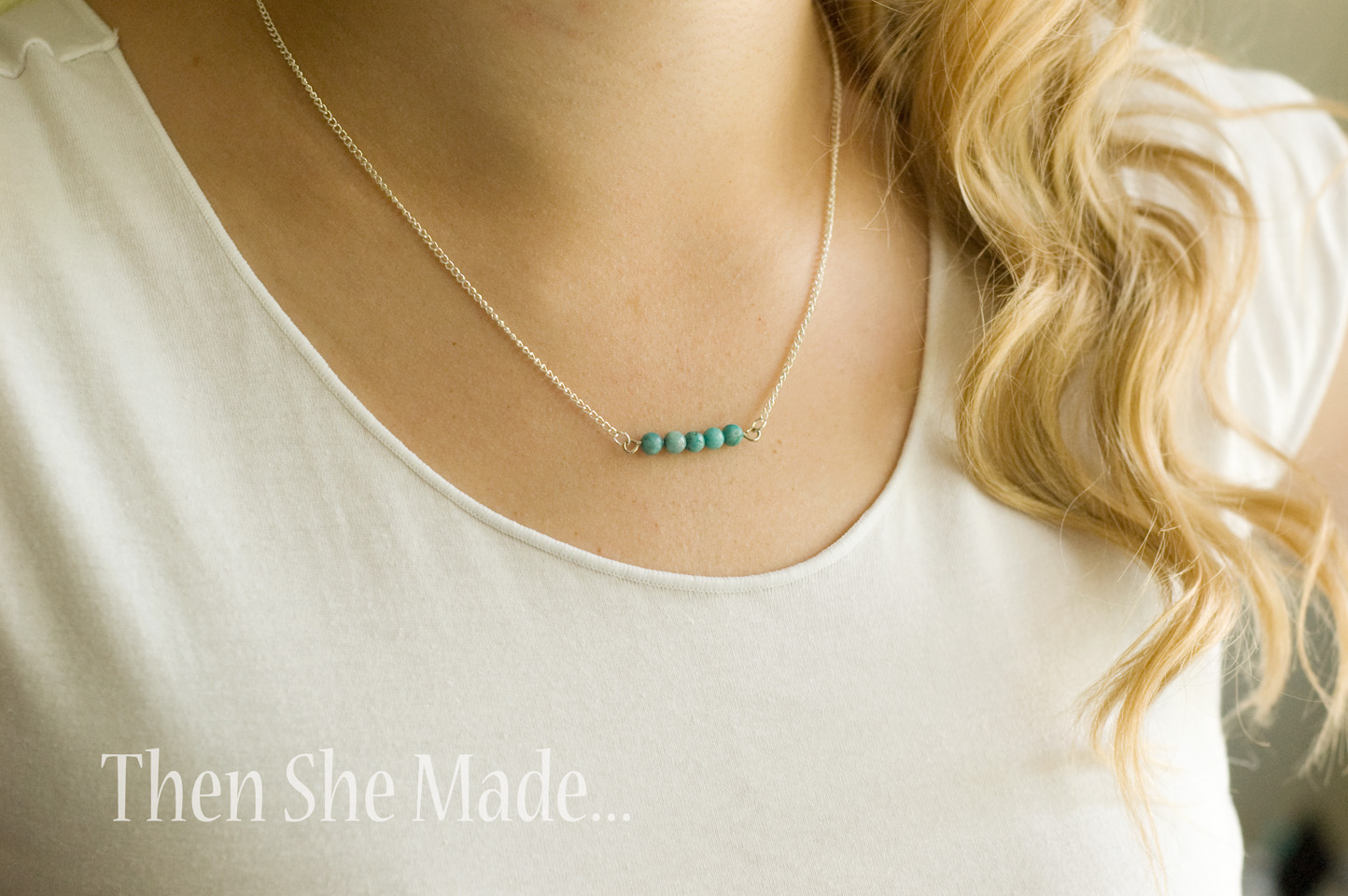 Then she made 0813 diy simple necklace tutorial solutioingenieria Image collections