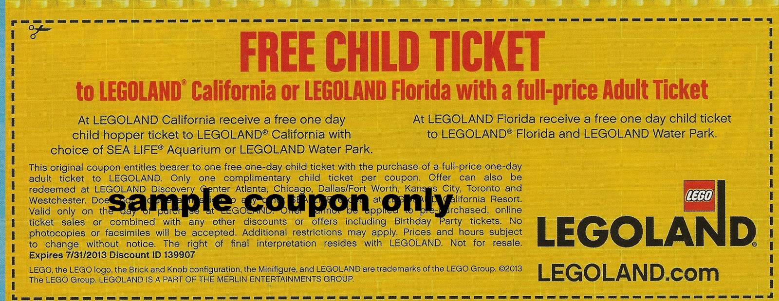 Legoland discount coupon