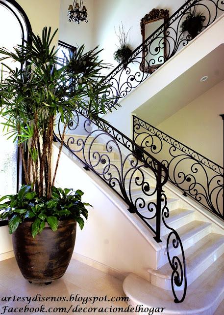 Dise o de barandas para escaleras decoraci n del hogar for Escaleras de fierro para casa