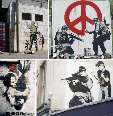 Banksy Graffiti Art Galleries Peace Soldier