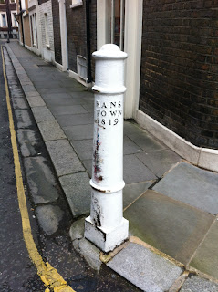 Bollard at corner of D'Oyley Street and Cadogan Place, London SW1