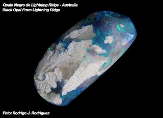 opalo negro australiano genuino pieza pulida