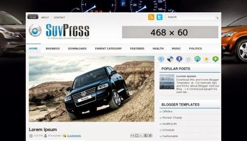 SuvPress - Free Blogger Template