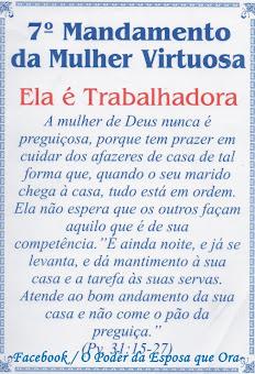 1O MANDAMENTOS DA MULHER VIRTUOSA
