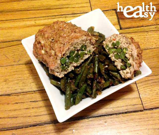 String Bean Stuffed Mini Meatloaf
