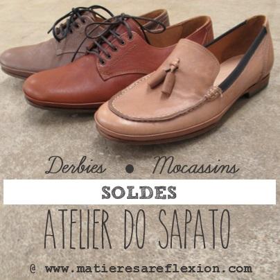 SOLDES Derbies et Mocassin Atelier Do Sapato