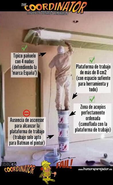 coordinator pintores construcción seguridad salud