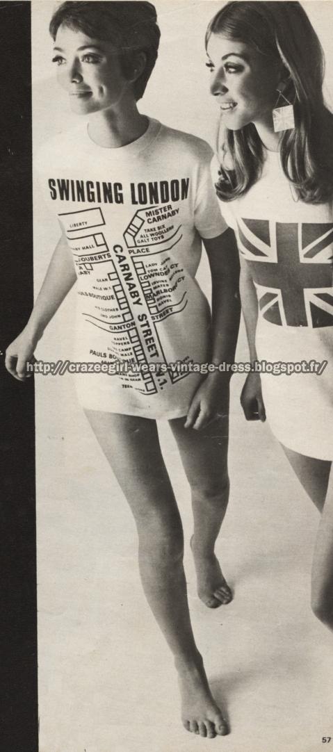 Carnaby Street T-shirt - 1967 tee shirt 1960 60s swinging london carnaby street