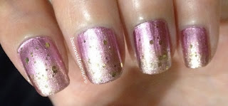 sally hansen pink satin golden-i essence make it golden gradient