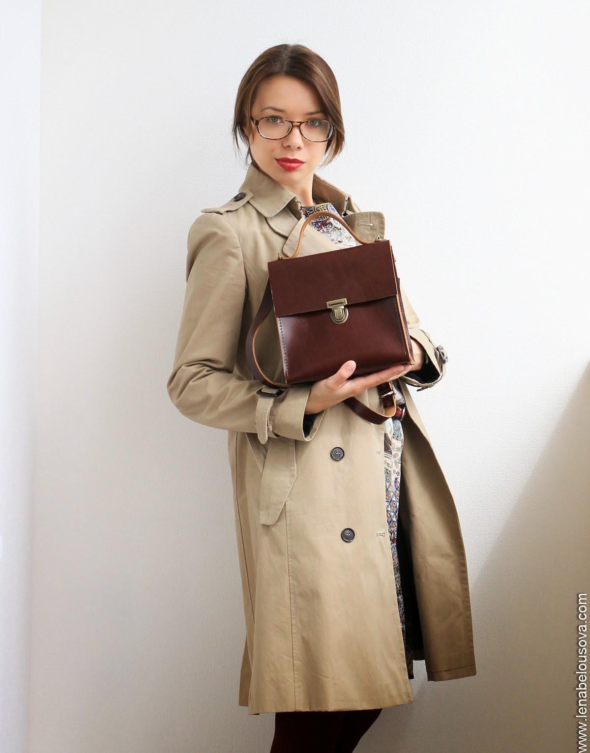 коричневый женский порфтель