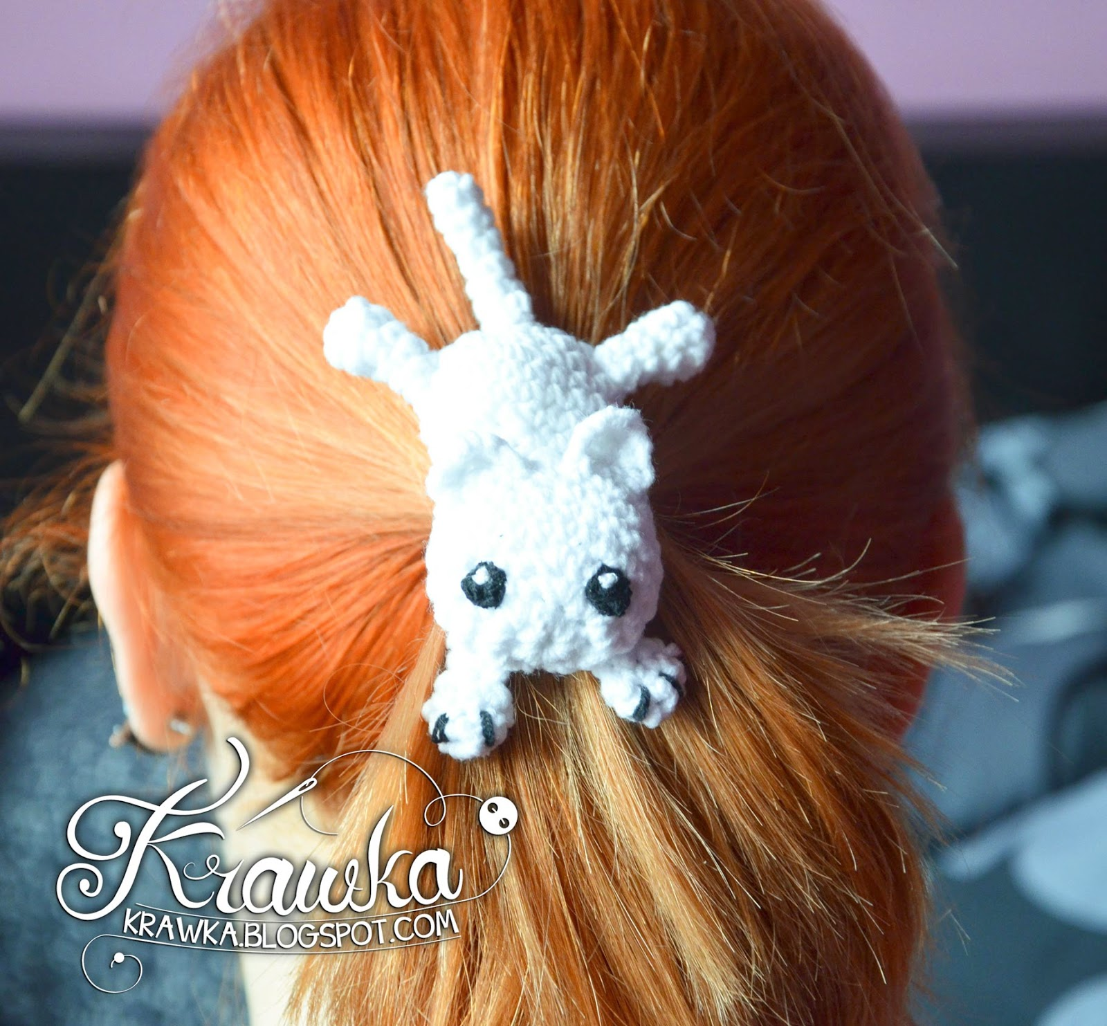 Krawka There Is A Cat On My Head Hairclip Free Pattern