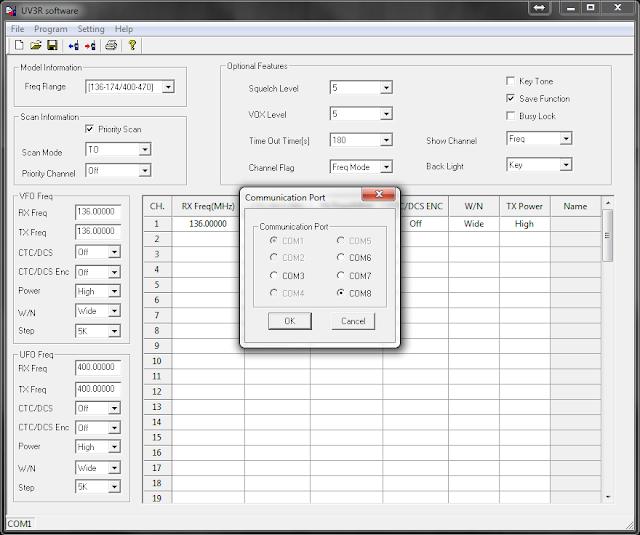 Baofeng UV-3R Mark II software descarga y configuracion