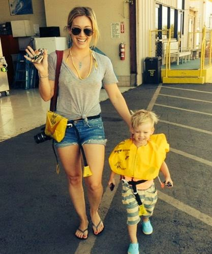 Hilary Duff about the lack of affection of her son Luca Comrie
