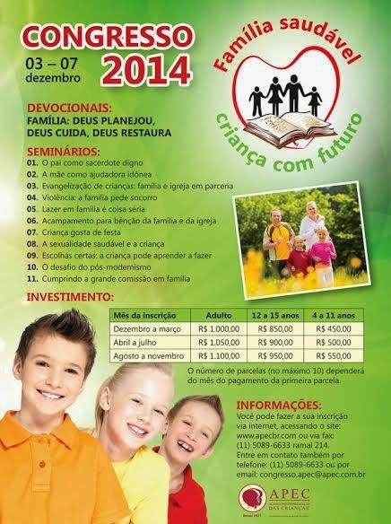 20º CONGRESSO NACIONAL DA APEC EM 2014 - De 03 a 07 de dezembro de 2014