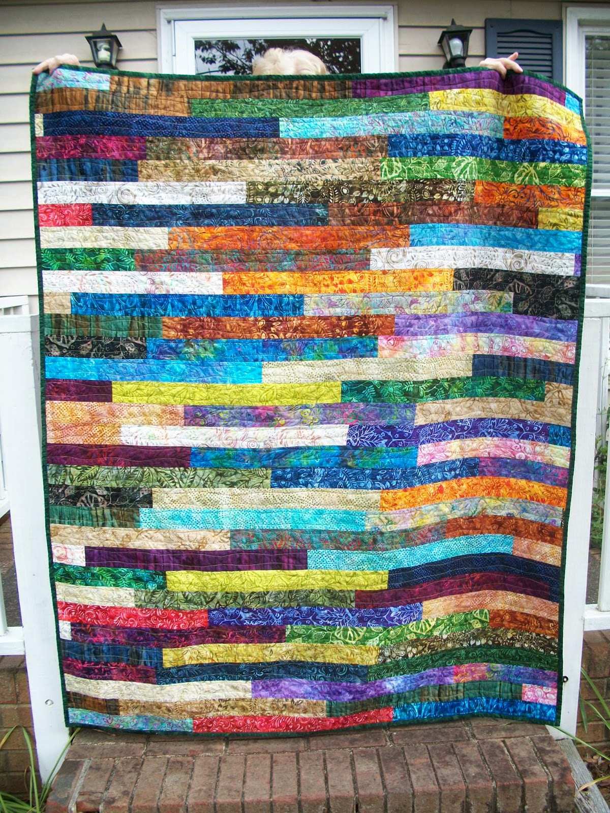 Sew Cook And Travel Splash Of Color Jelly Roll Quilt Finish New