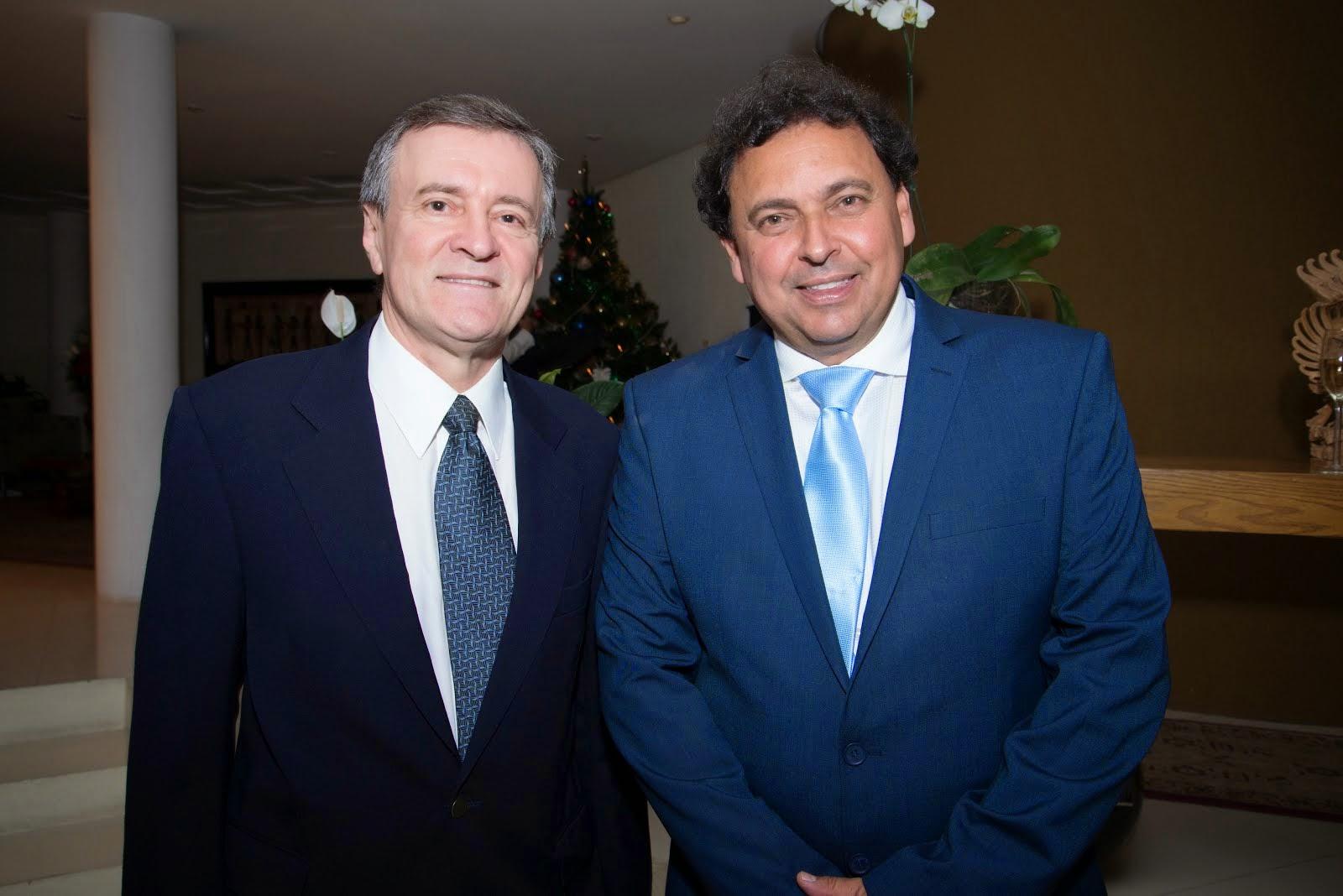 Paulo Miranda, do Itamaraty e o Cônsul Honorário da República da Bulgária em Minas, Renato Russeff
