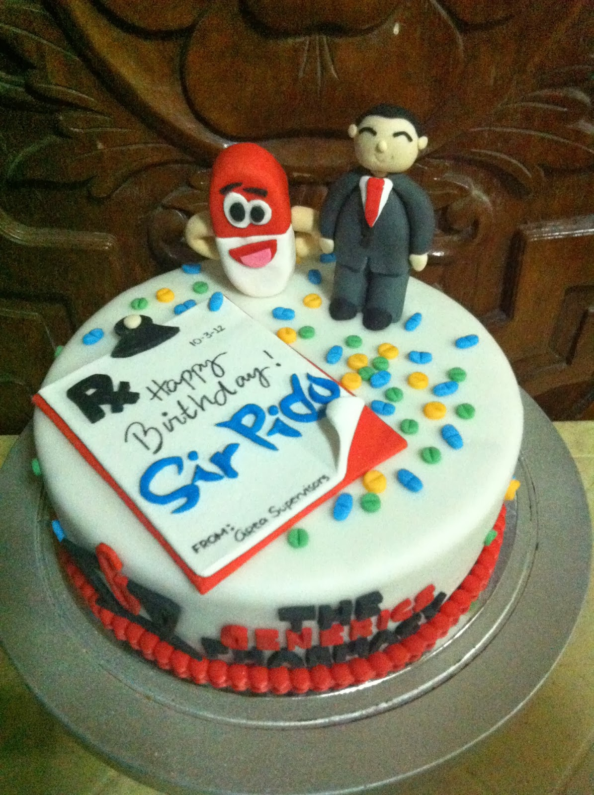 Generics Pharmacy Themed Birthday Cake