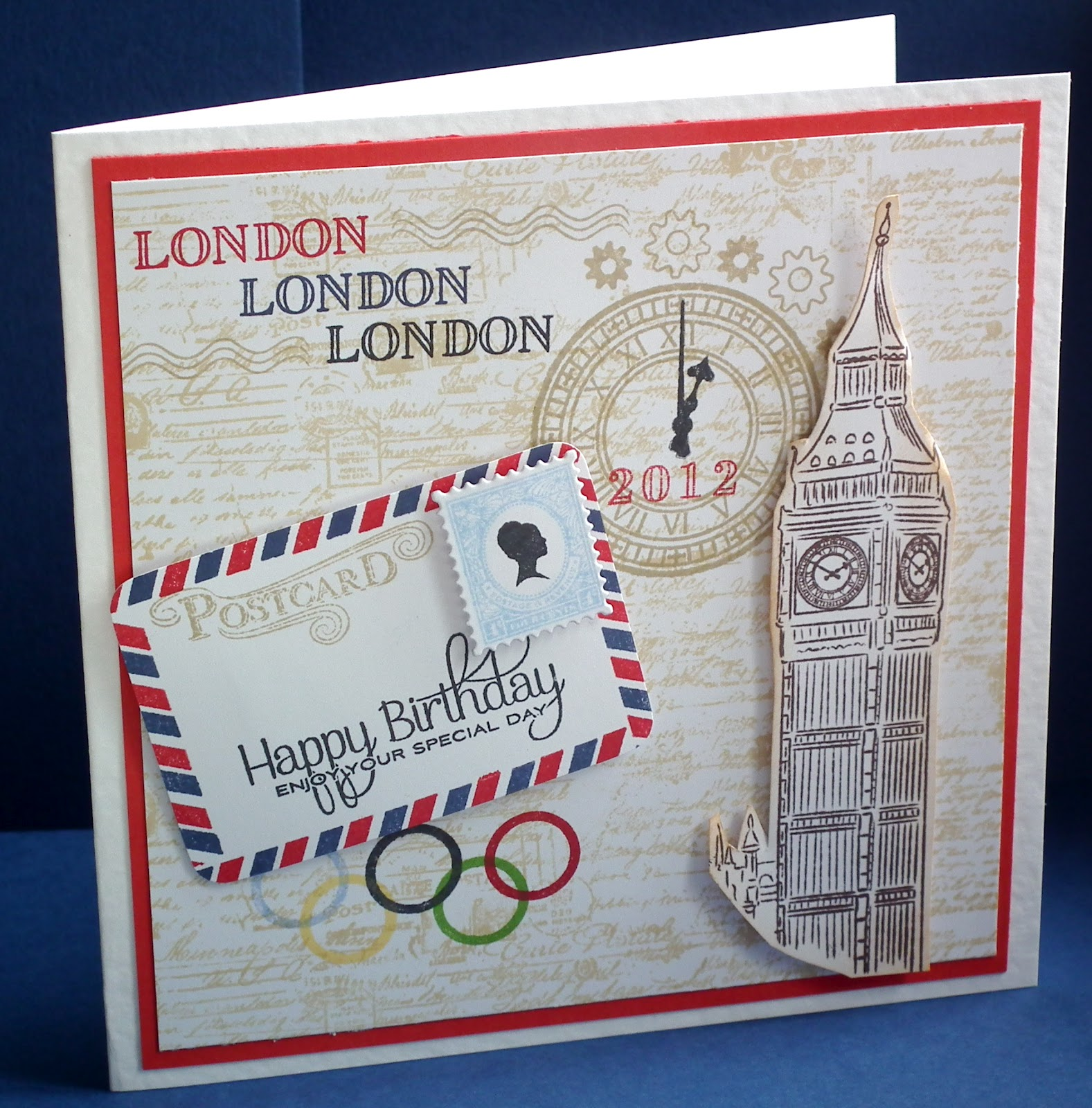 "Crafty Sew""n""sew: London Theme Birthday Card"