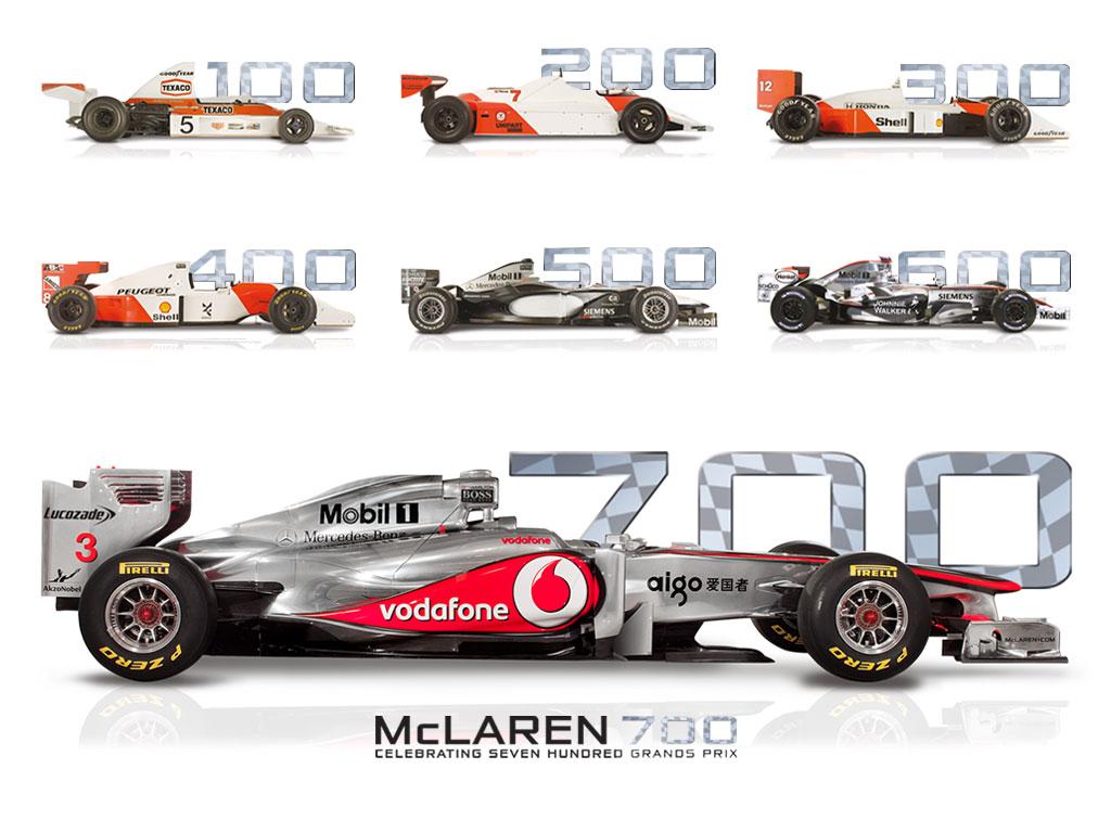 mclaren ready to celebrates 700th formula 1 race. Black Bedroom Furniture Sets. Home Design Ideas