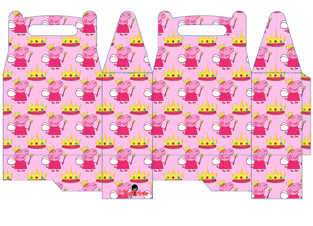 Peppa Pig Fairy: Free Printable Lunch Box.   Oh My Fiesta! in english