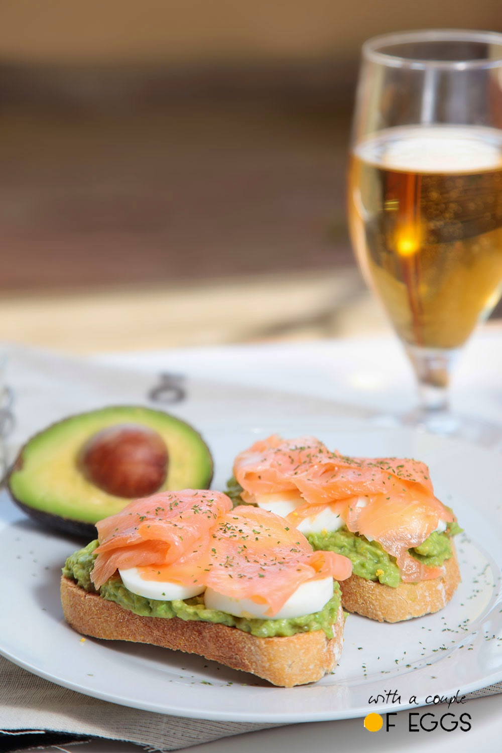 aguacate y salmon