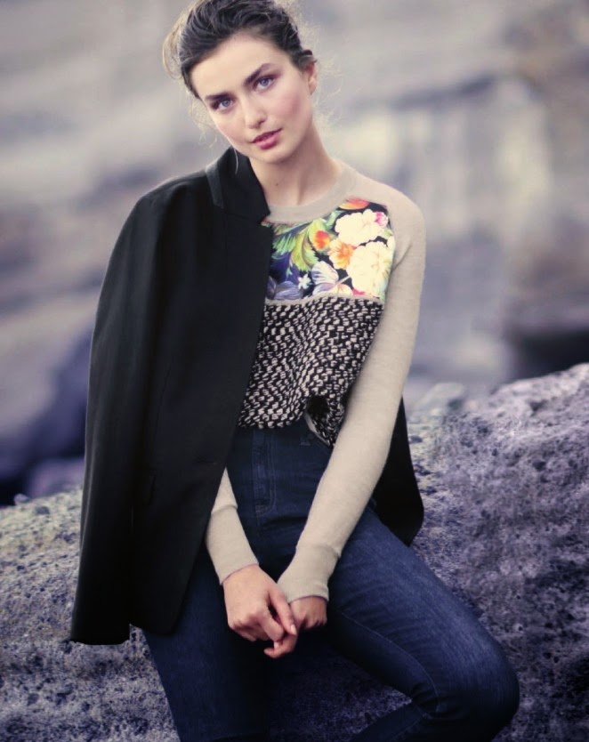 J. Crew Style Guide Loobok Fall/Winter 2014 featuring Andreea Diaconu