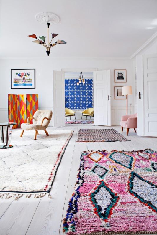 apartamento escandinavo lleno de arte
