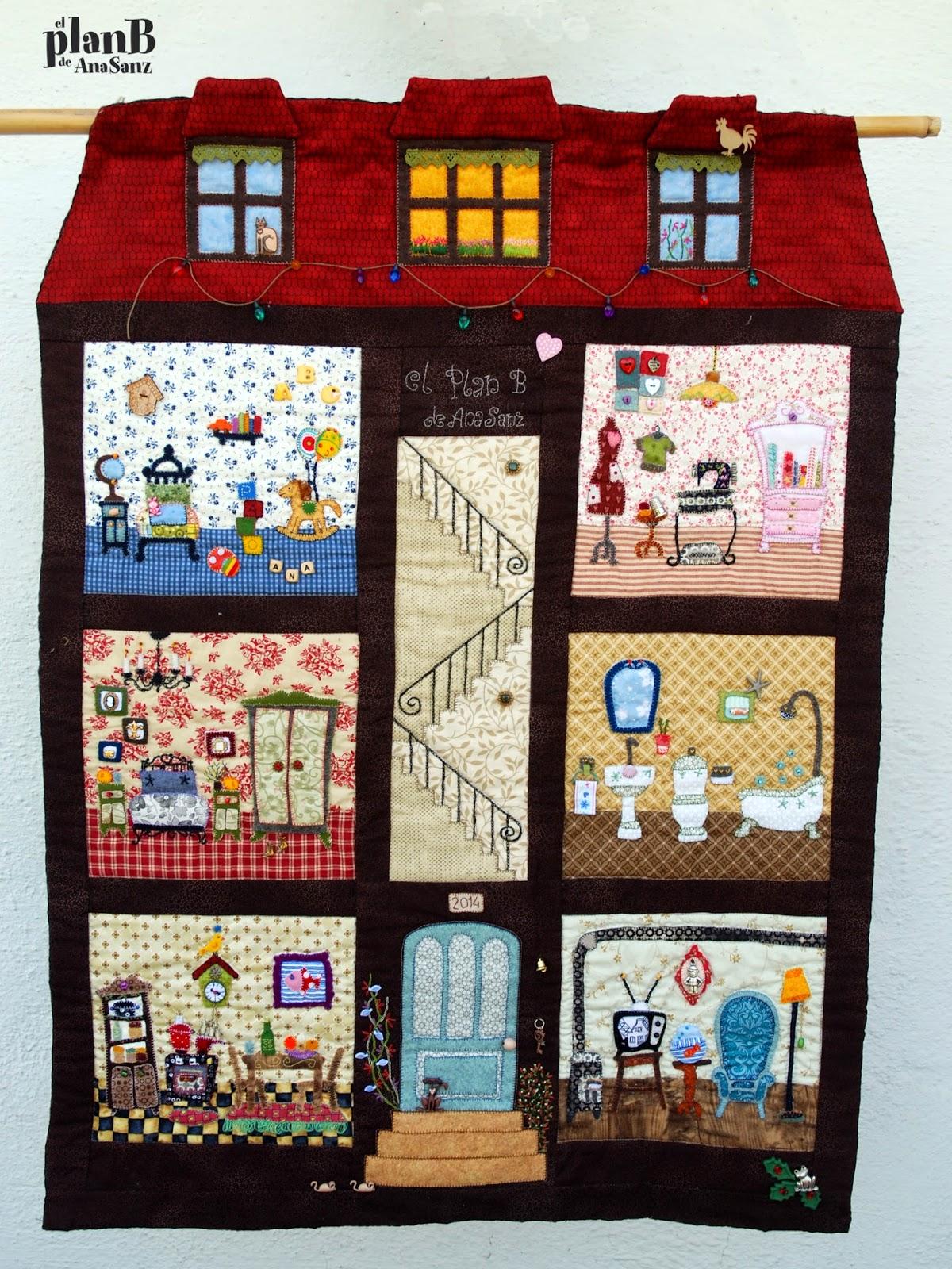 Bocinets d 39 enc s mi casita de patchwork - Patrones casas patchwork ...