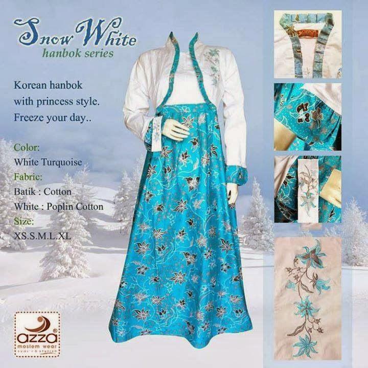Gamis Hanbok Snowwhite Turquoise