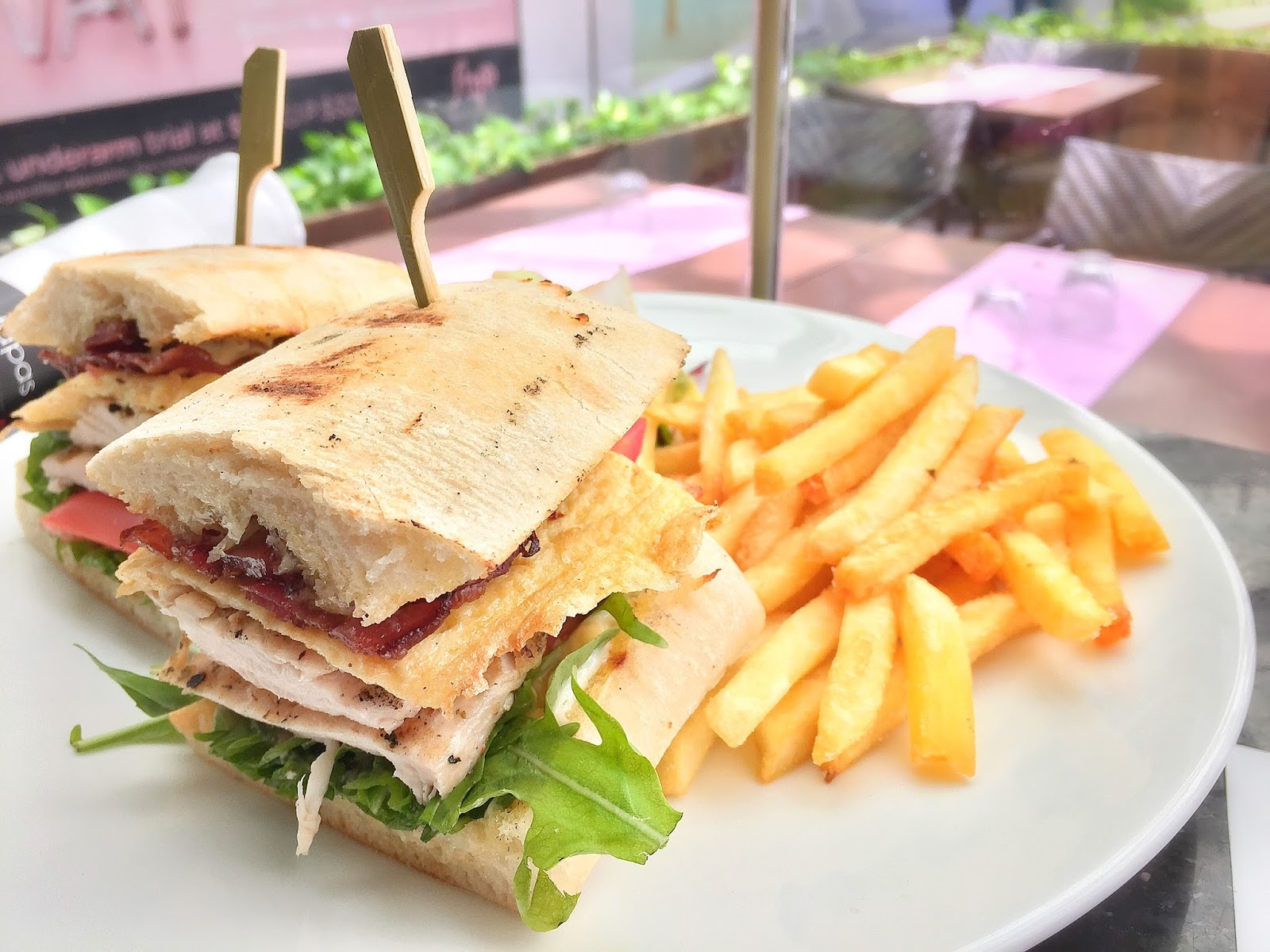 Salt Tapas and Bar - Club Sandwich with House Salad and Fries