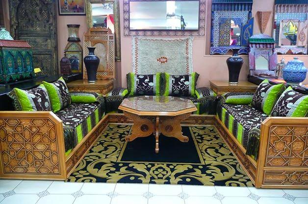 for Salon traditionnel marocain vert