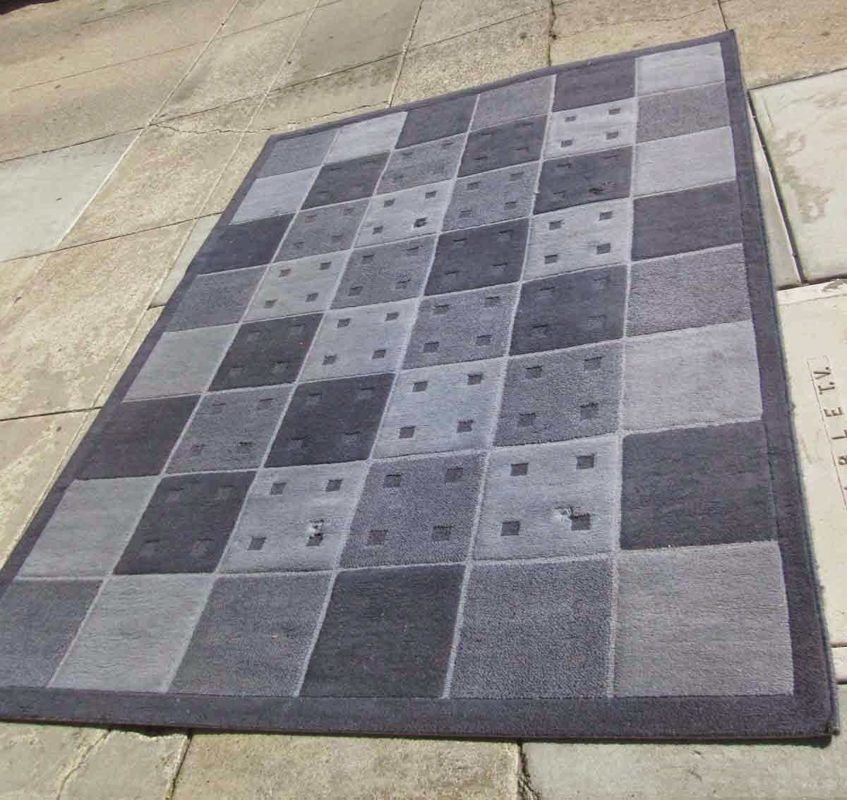 Uhuru furniture collectibles sold reduced checkered blue area rug 20 - Checkerboard area rug ...