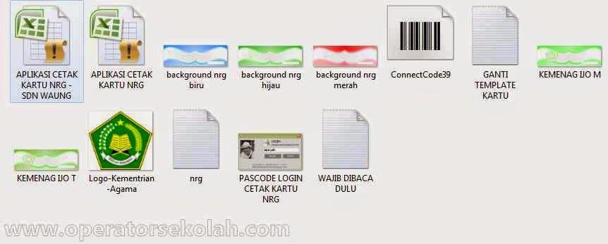 isi file folder aplikasi cetak kartu NRG