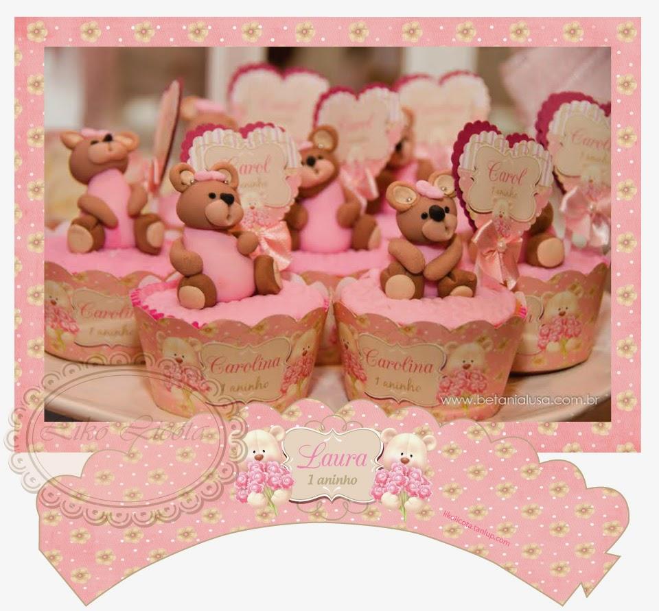 wrapper para cupcake floral