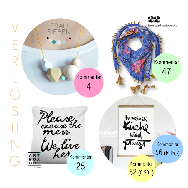 Bloggeburtstag, Frollein Pfau, #frolleinpfauwirdvier, Verlosung, Gewinner, Gewinner, Auslosung, frau sieben, formart kunstdrucke, artboxone, 22live and celebrate