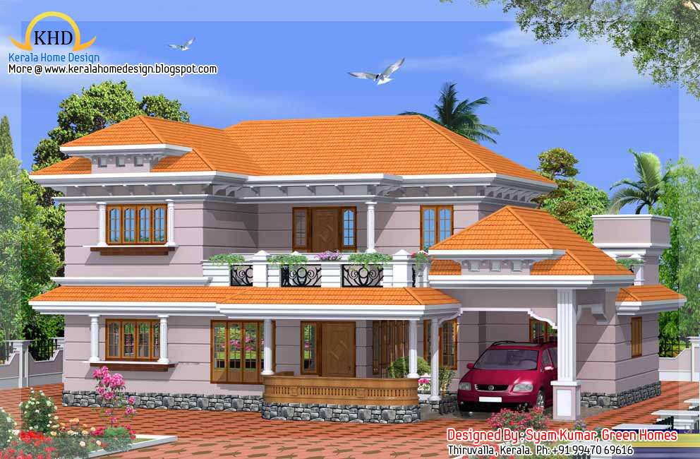 Exterior collections kerala home design 3d views of for Kerala 3d home floor plans