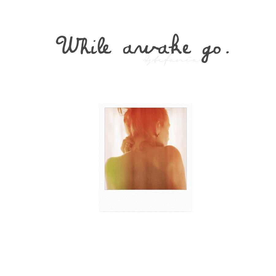 WHILE AWAKE GO.