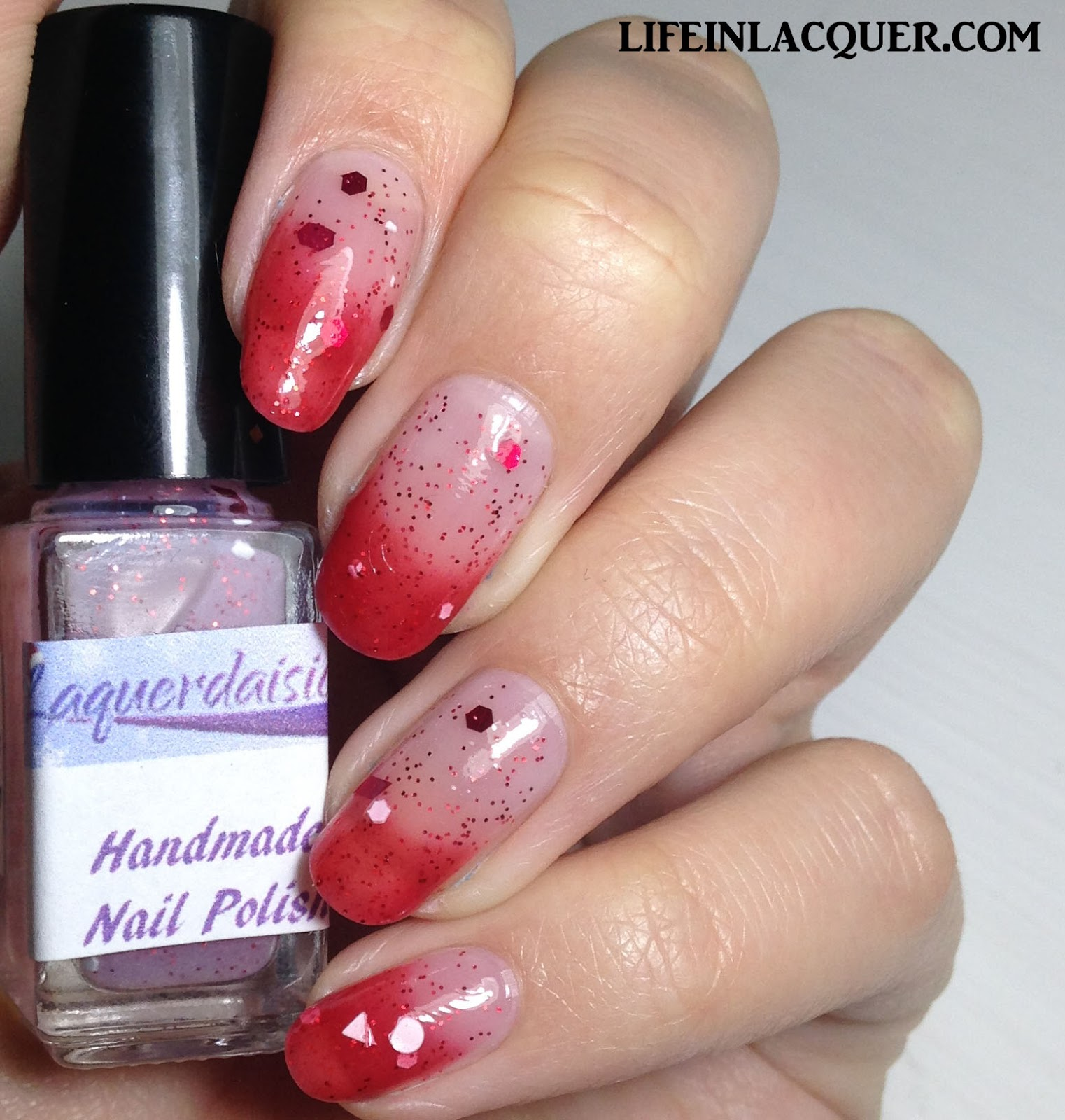 laquerdaisical Candy Caned swatch and review indie polish uk