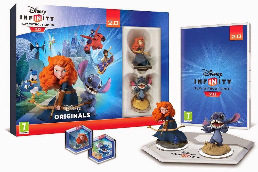 TOYS : JUGUETES - DISNEY Infinity 2.0  Toy Box Combo Pack | Mérida & Stitch  Starter Pack | DISNEY Originals  Producto Oficial | Videojuegos | A partir de 7 años  PlayStation 4, Nintendo Wii U, PlayStation 3, Xbox 360, Xbox One  Disney - 7 noviembre 2014