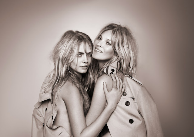Kate Moss and Cara Delevingne star in the 'My Burberry' fragrance campaign