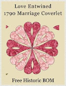 Love Entwined 1790 Marriage Coverlet