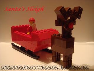 Santa's Sleigh Instructional Build, Christmas, Lego Creations