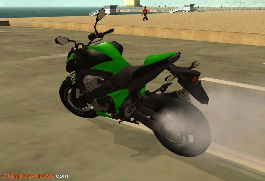 Baixar moto Kawasaki Z800 Para GTA San Andreas