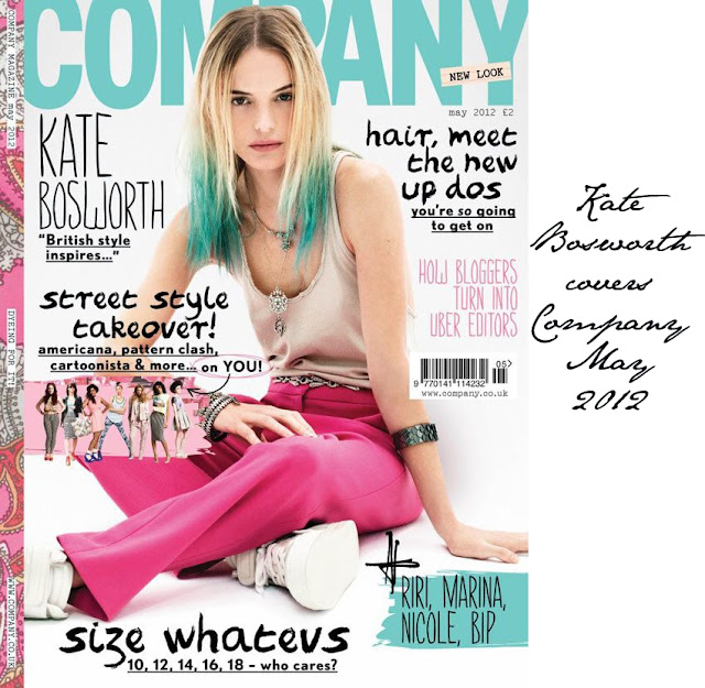 Kate Bosworth covers Company Magazine May 2012