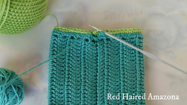 double crochet cuff