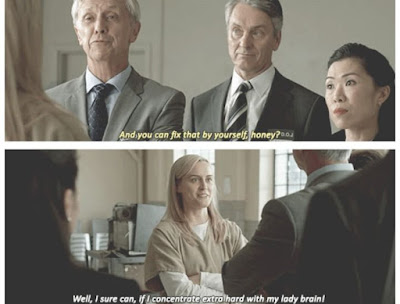 OITNB, OITNB Season 3, OITNB Season 3 quote, OITNB feminism, OITNB Piper fix it yourself, Orange is the new black piper quote,