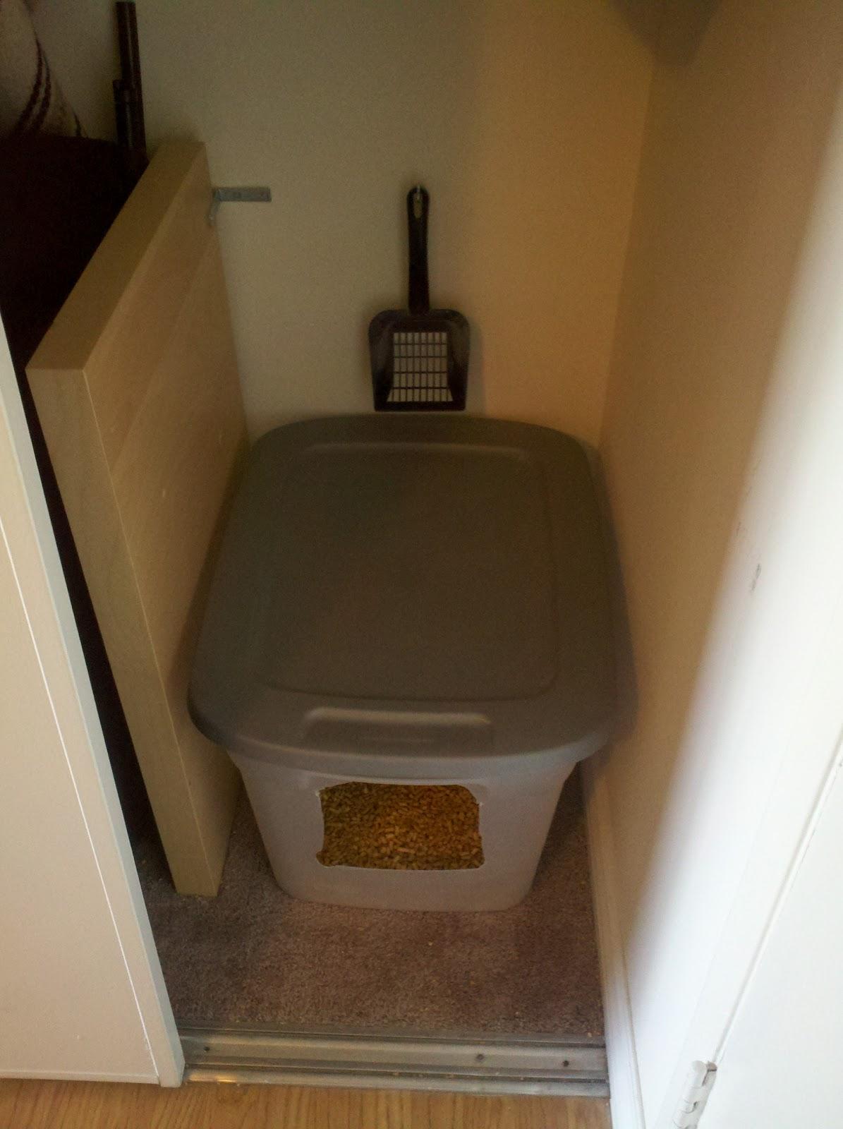 la apartment living cat litter