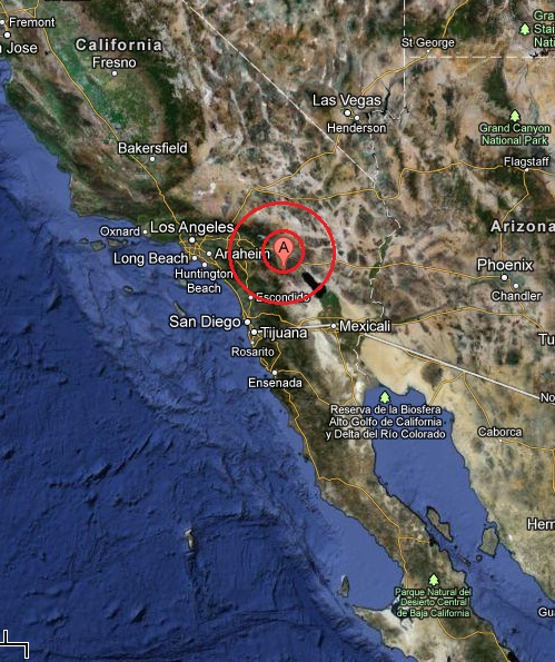 southern california, USA  earthquake 2013 March 11
